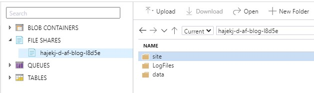 Azure Functions Storage